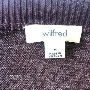 Wilfred Sweaters - Wilfred-Burgundy Long Sleeve Sweater